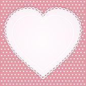 Ročníku valentine srdce — Stock vektor