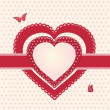 Valentine red and pink hearts l - Stock Photo