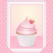 Stock Photo: Vintage pink cupcake background