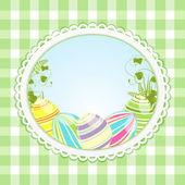 复古复活节背景 — 图库照片