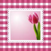 Vintage tulip background — Stock Photo