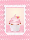 Vintage pink cupcake background — Stock Photo