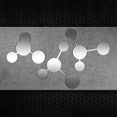 Grunge metallic molecule background — Stock Photo