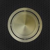 Grunge brass metal medal — Stock Photo