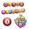 Royalty-Free Stock Vector Image: Bingo stickers set