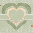 Vintage heart label — Stock Vector