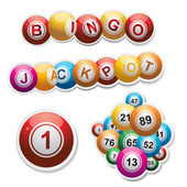Bingo stickers set — Stock Vector