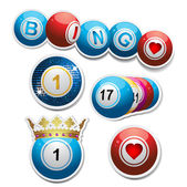 Bingo stickers set2 — Stock Vector
