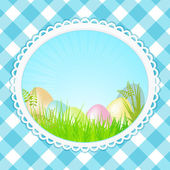 Vintage speckled easter background oval — Stock Vector