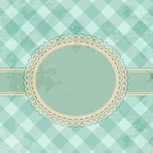 Vintage gingham label background — Cтоковый вектор