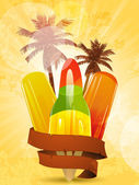 Tropical ice lollies — Stock Vector