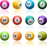 Bingo ball set — Stock Vector
