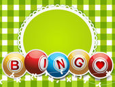 Bingo background on gingham — Stock Vector