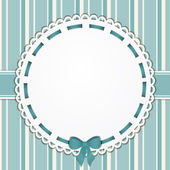 Vintage blue background and border — Stock Vector