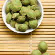 Wasabi snack peanuts - Stock Photo