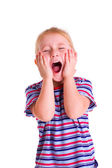 Little blonde girl screaming — Stock Photo