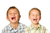 Two laughing boys — Stock Photo