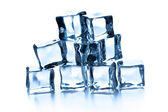 Pile of many ice cubes — 图库照片