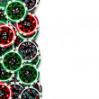 Colorful poker chips background — Stock Photo