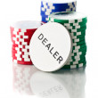 Colorful poker chips — Stock Photo #9171942
