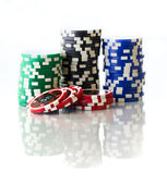Colorful poker chips — Foto Stock