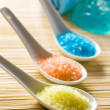 Colorful bath salt - Stock Photo