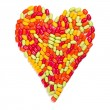 Colorful candies heart — Foto Stock