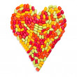 Colorful candies heart — Stock Photo