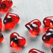 Red glass heart — Stock Photo