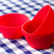 Silicone baking cups - Stock Photo