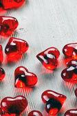 Rood glazen hart — Stockfoto