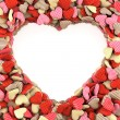 Royalty-Free Stock Photo: Frame in the shape of Hearts.