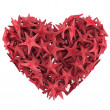 Royalty-Free Stock Photo: Heart made of Red sea star