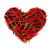Heart made of Chili Pepper. — Stock Photo
