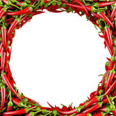 Frame made of Chili Pepper — Stock Photo