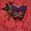 Carnival mask on fabric 8 — Stock Photo