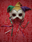 Carnival mask on fabric 9 — Stock Photo