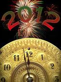 New years 2012 strikes twelve — Stock Photo