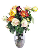 Wilted roses bouquet — Stock Photo