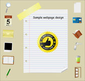 Web page template — Stock Photo