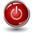 Red power glossy button — Stock Photo