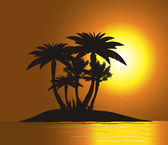 Sunset on the island — Stock Photo
