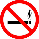 "Sign ""No smoking"" — Stock Photo"