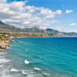 Stock Photo: NerjBeach and City - Spain