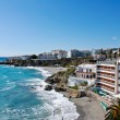 Nerja Beach and City - Spain — Stock Photo