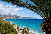 Nerja Beach and City - Spain — Stock Photo