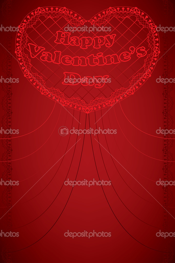 Valentine's day greeting card — Stock Vector #8416563