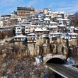 Old Town Veliko Tarnovo above the Yantra river — Stock Photo