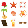 Royalty-Free Stock Vector Image: Summer icon set