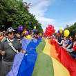Participants parade at Gay Fest Parade — Stock fotografie